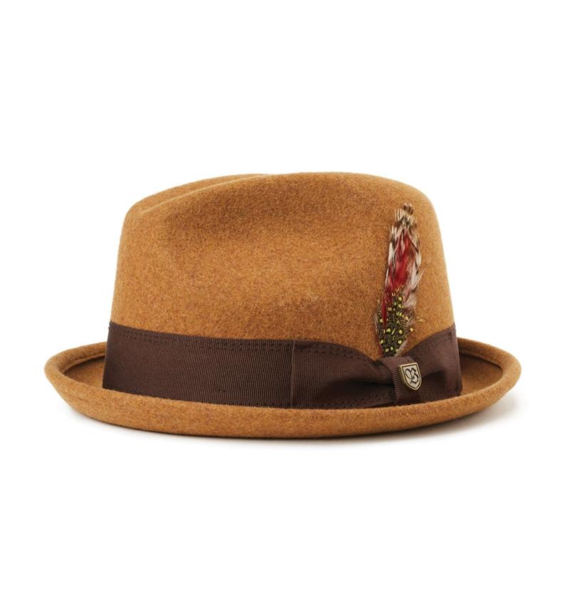 03a1c33e Brixton---Gain-Fedora-Hat---Heather-Coffee-1.jpg