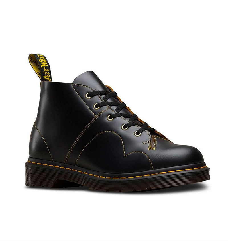 Dr Martens - Church Monkey Boots Vintage Smooth - Black