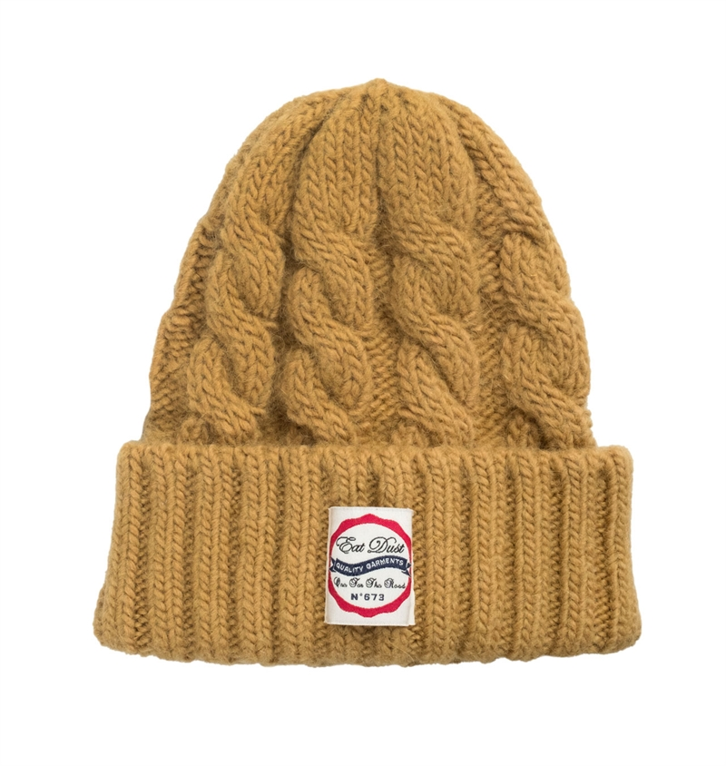 Eat Dust - Alpa Plus Knitted Beanie - Mustard