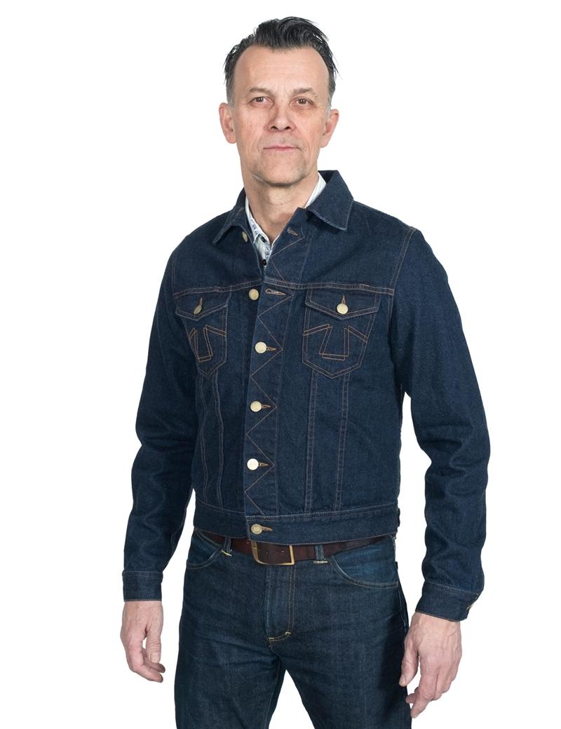 Eat Dust Fit 763 Denim Jacket Broken Twill Indigo