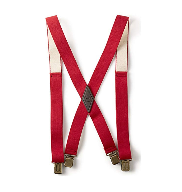 Filson - Clip Suspenders - Red