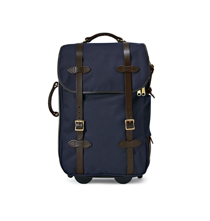 Filson - Rugged Twill Rolling Carry-on Bag Medium - Navy