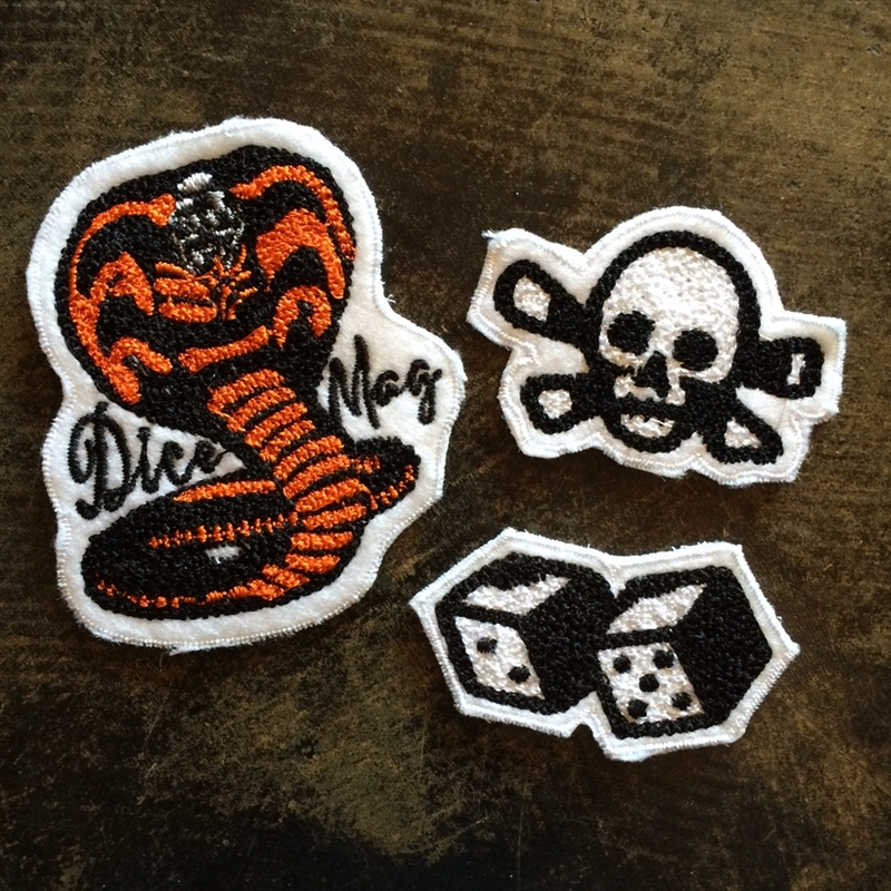 DicE Magazine - Chain Stitched Patches - Pack Of Three