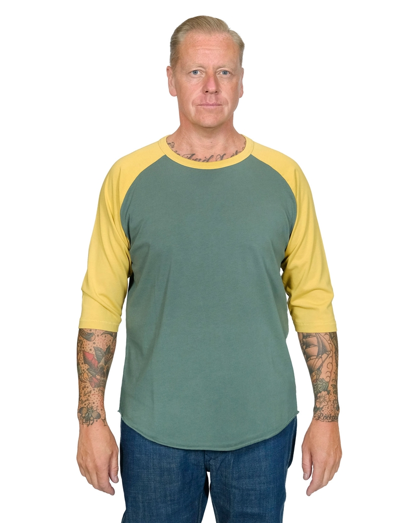 Indigofera - Leon Raglan Sweater - Green/Yellow
