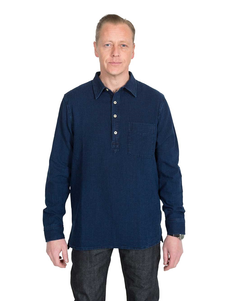 Lee - 101 Pop-Over Shirt - Rinsed Indigo
