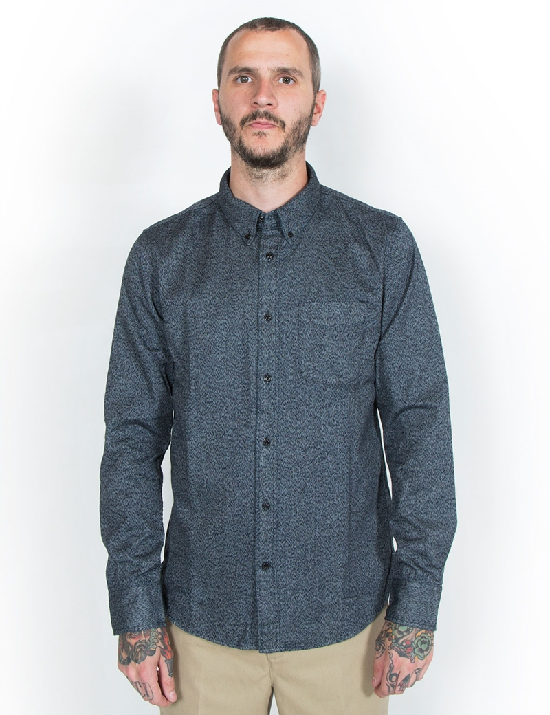 Lee 101 button down shirt indigo hepcat store for Indigo button down shirt