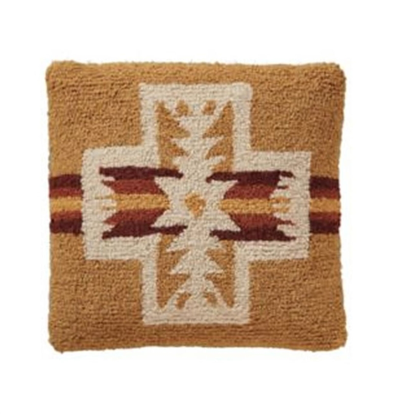 Pendleton - Harding Hooked Pillow - Gold
