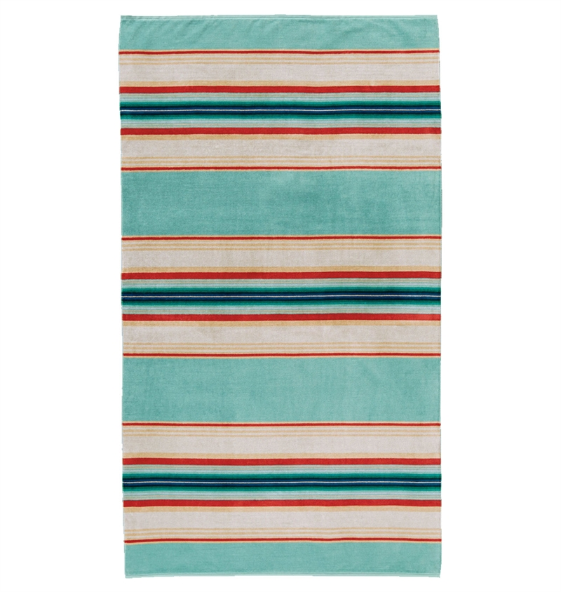 Pendleton - Serape Stripe Spa Towel - Aqua