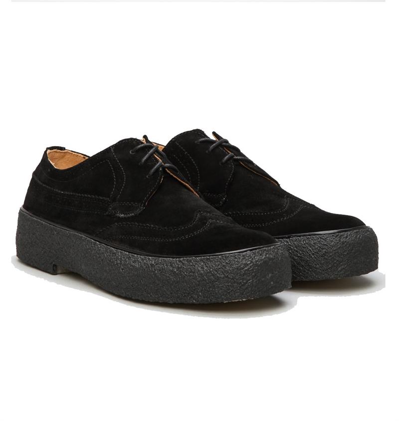 Playboy Original Classic Brogue Shoe Black Suede   Sverige