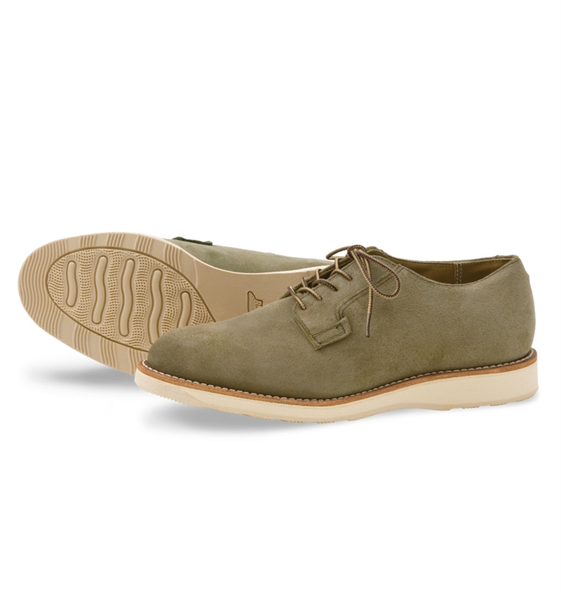 Red Wing Shoes Style no 3104 Postman Oxford - Olive Mohave
