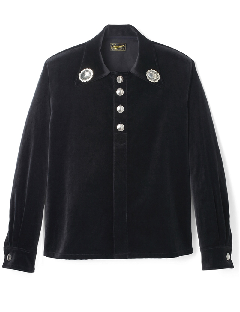 Stevenson Overall Co. - Brave Man Navajo Shirt - Black