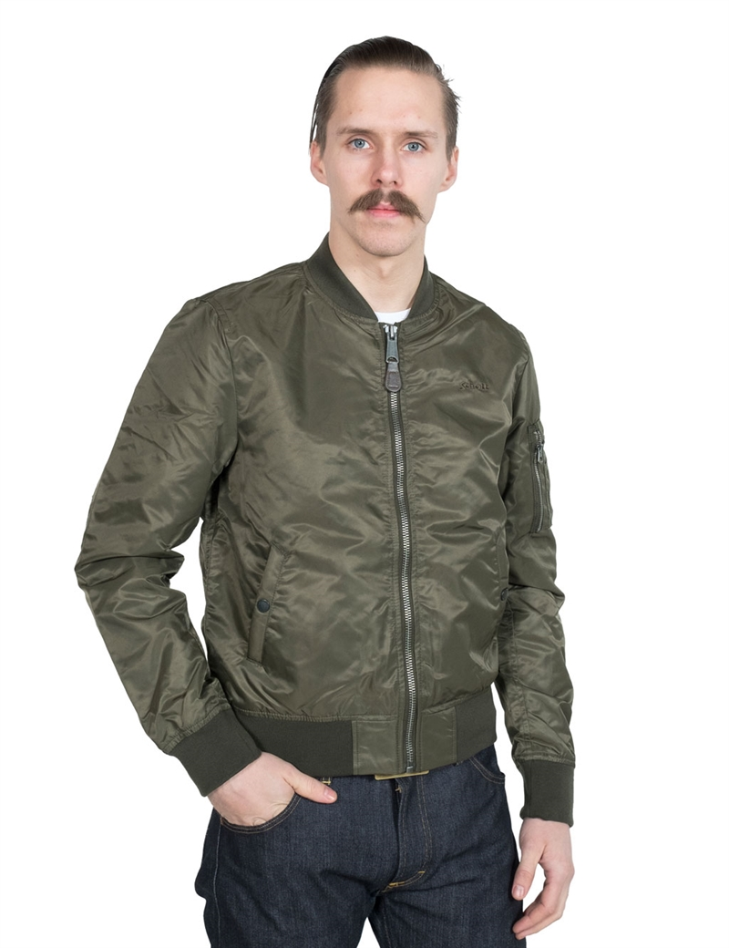 schott n y c ma 1 airlite nylon bomber jacket army khaki hepcat. Black Bedroom Furniture Sets. Home Design Ideas