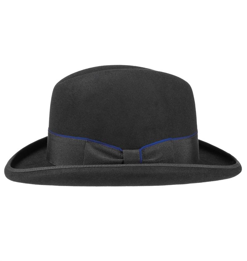 Stetson Homburg Fur Felt Hat Black
