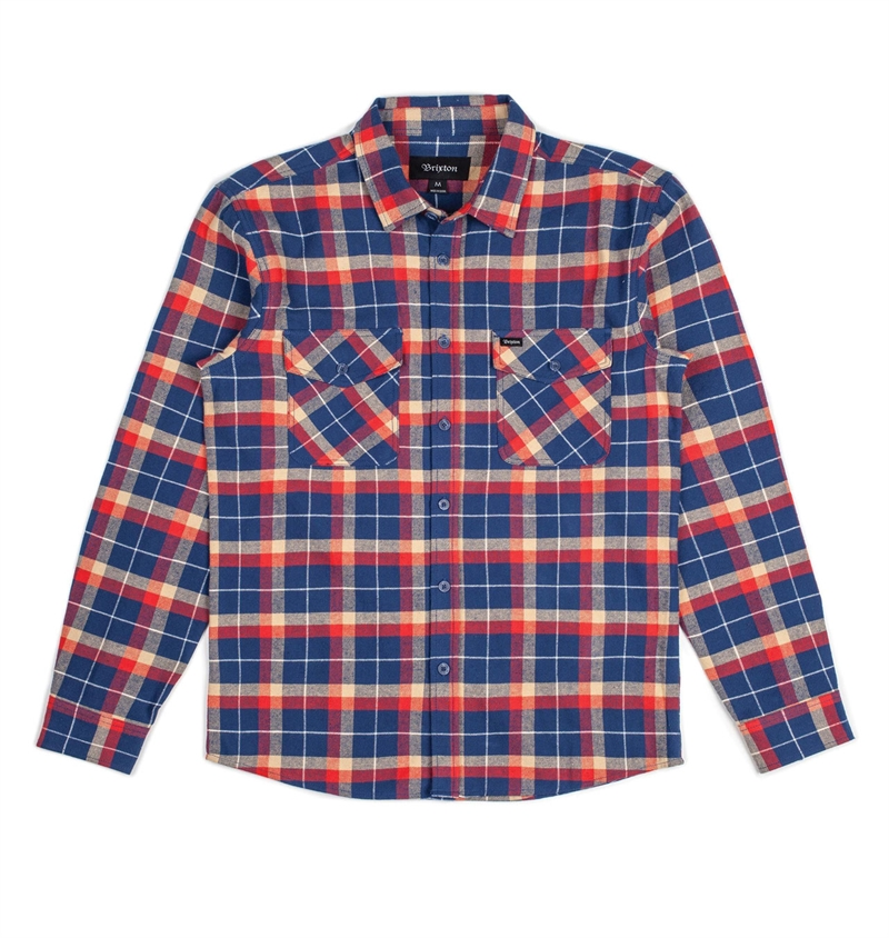 Brixton - Grady Flannel Shirt - Blue