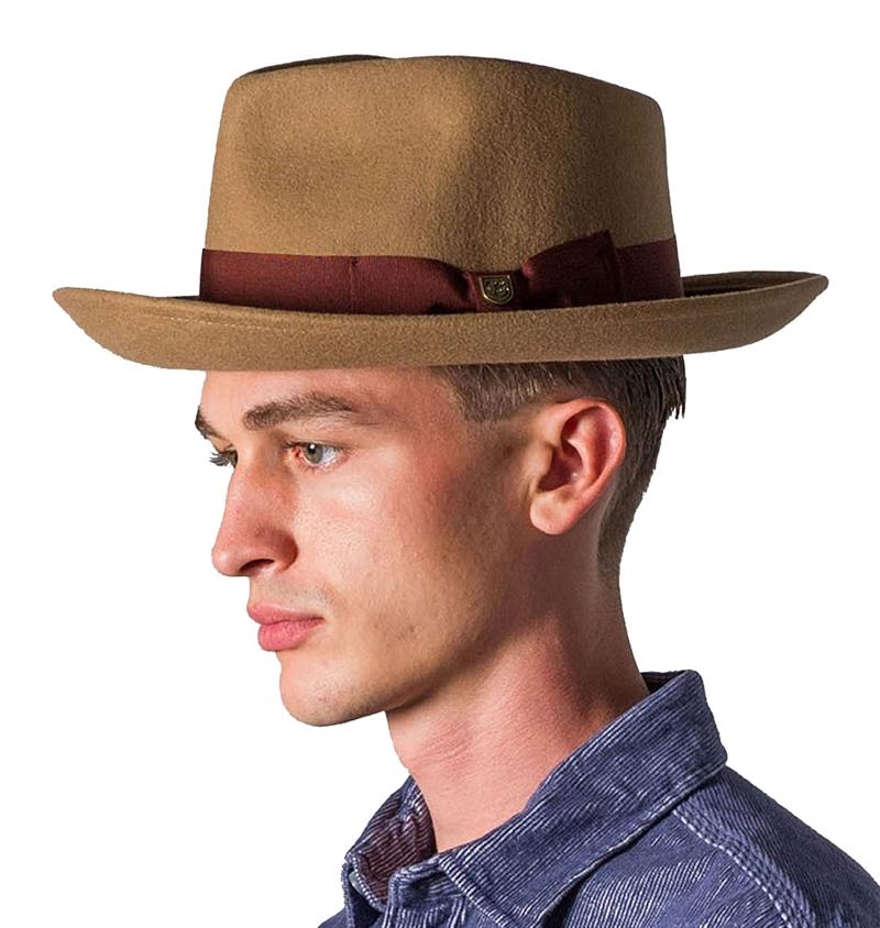 Brixton - Swindle Fedora Hat - Dark Tan 2dfbfa2e009