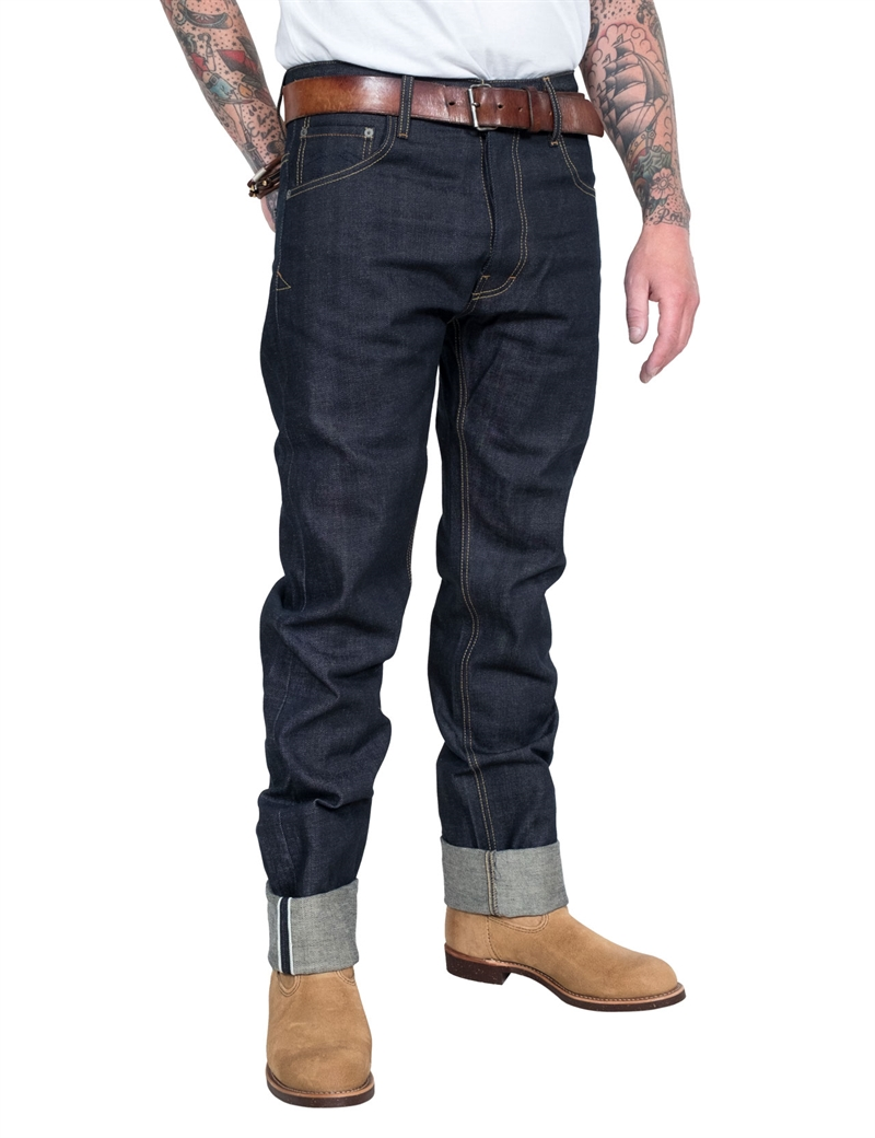 Eat Dust - Fit 76 Raw Selvage Jeans - Indigo