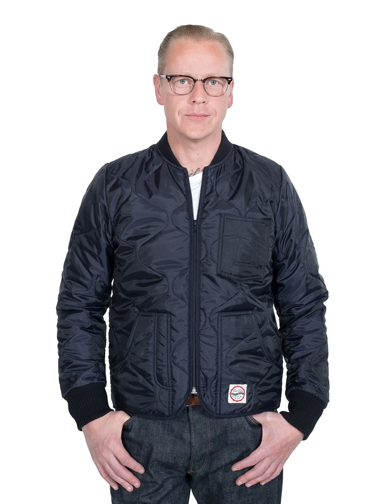 Eat Dust - Frostbite Quilted Nylon Jacket - Navy/Bordeaux