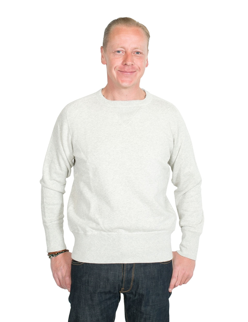 Levi´s Vintage Clothing - Bay Meadows Crew Sweatshirt - Oatmeal Blue
