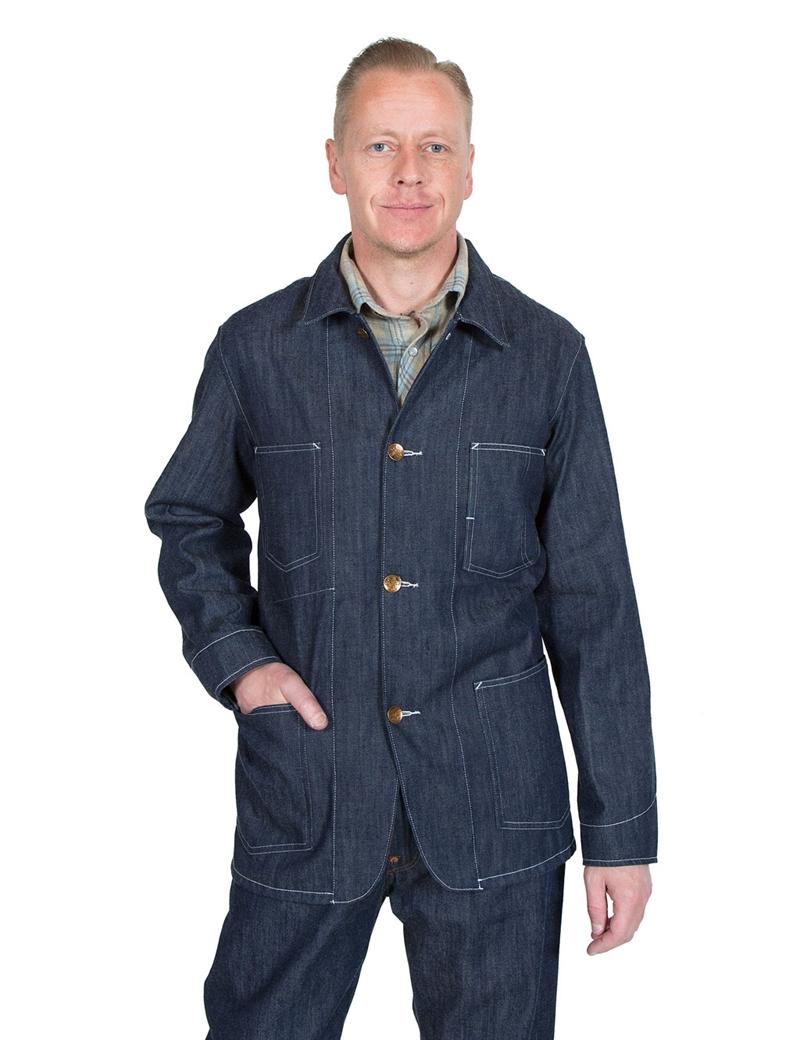 Levi 180 S Vintage Clothing 1915 Sack Coat Rigid Indigo
