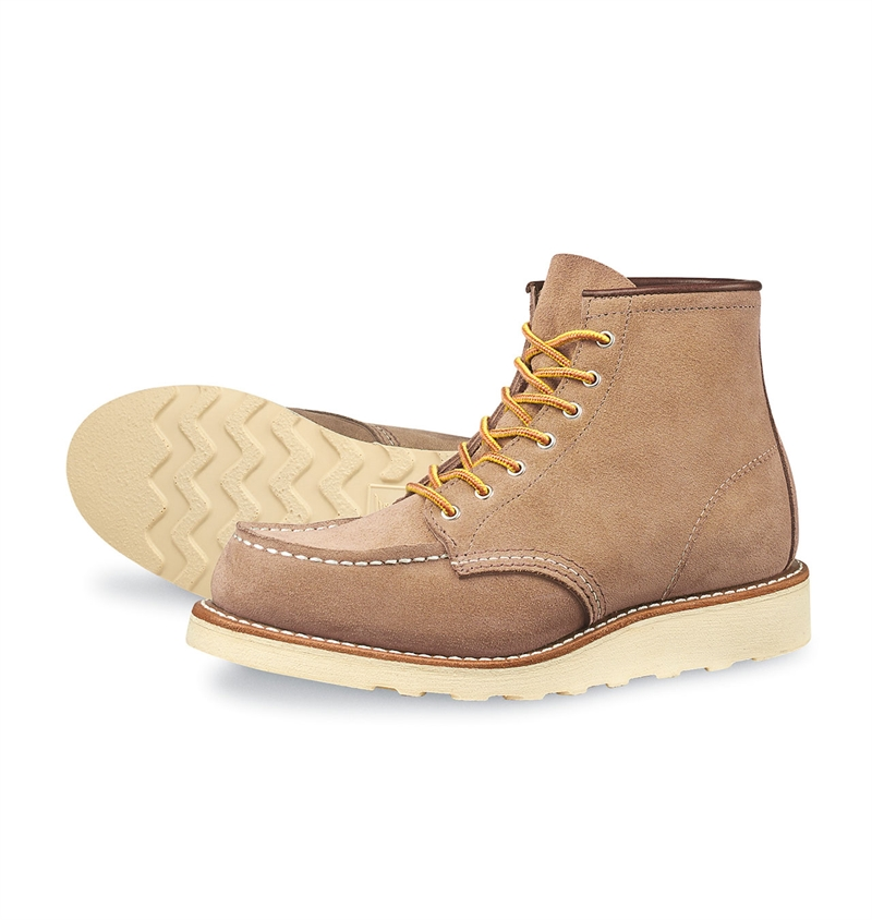 Red Wing Shoes Woman Style no 3376 6-inch Moc Toe - Sand Mohave Leather