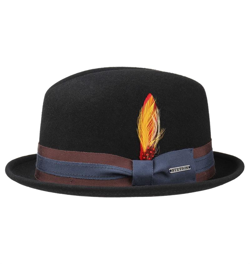 b23e7c4aae Stetson - Carson Player Fedora Hat - Black