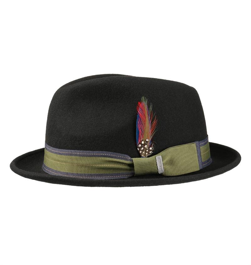 Stetson - Player Woolfelt Trilby Hat - Black 3e5d0d143cd