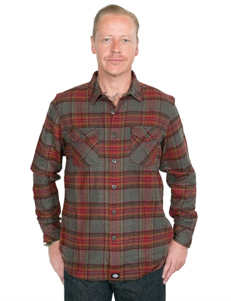 Dickies - Wallace Checked Shirt - Red
