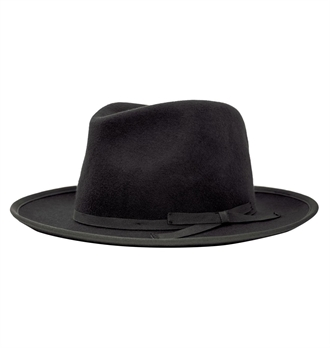 Brixton - Manhattan Fedora Hat - Black 3505a3f017a