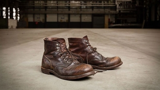 Red Wing Shoes Iron Ranger Boots 8111 Worn