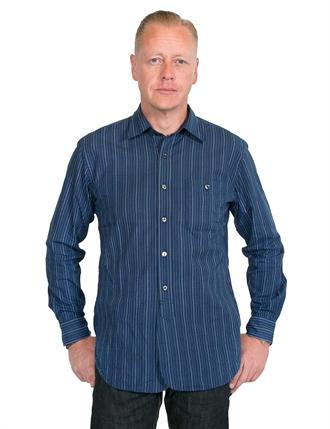 d4bf54e6c6 Stevenson Overall Co.- Gent Wabash Striped Shirt - Indigo