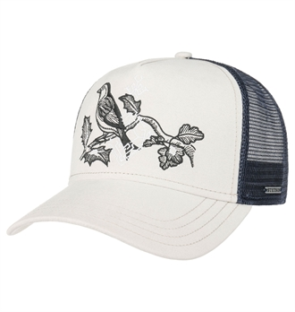 71f54a6b1bf5d Stetson - Bird Trucker Cap - Cream White