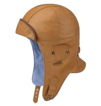 c4ca09e7b0871 Stetson - Bloomington Leather Aviator Helmet - Cognac