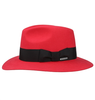 46ddcbb1744 Stetson - Dalion Traveller Hat - Red
