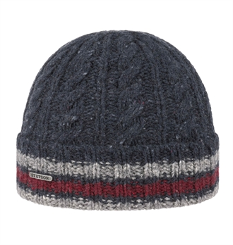 df242601b34 Stetson - Donegal Wool Beanie - Navy