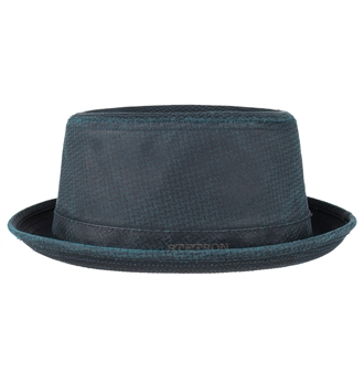 Stetson - Embossed Odenton Pork Pie Hat - Petrol Blue 66479368ae9fa