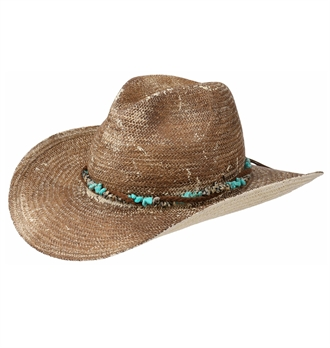 db9bbcb6 Stetson - Lillian Western Straw Hat - Light Brown