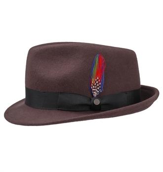 2f732e902e9 Stetson - Richmond Trilby Hat - Bordeaux