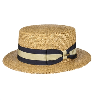 8277b18872f4e Stetson - Vintage Wheat Boater Straw Hat