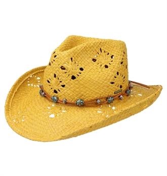f28cb3cc2375d Stetson - Western Raffia Straw Hat - Yellow