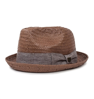 8c4f20a87e1 ... czech brixton castor fedora hat chocolate 0cf1d c4d50