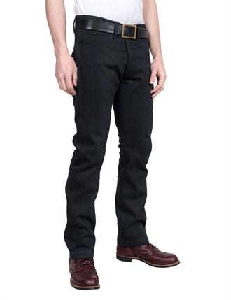 Indigofera - Swearengen Pants Hickory Stripe - Gr  229  Svart bcd8b1b977ba0