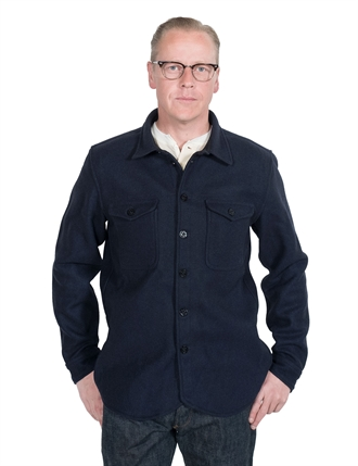 K.O.I - Angus Over Shirt (Recycled Wool) - Navy