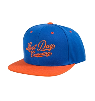 LDC - Classic Script Snap Back Hat - Blue/Orange