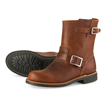 Red Wing Shoes Woman Style no 3356 Short Engineer - Copper Rough & Tough Leather