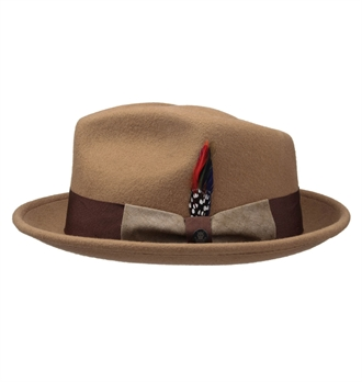 Stetson - Virginia Woolfelt Fedora hat - Tan
