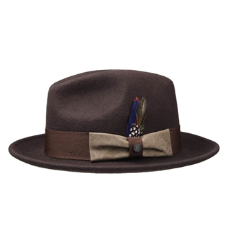 Stetson - Virginia Woolfelt Fedora hat - D Brown