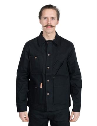 6554c5cf17 Tellason - Coverall Jacket Japanese Selvedge Denim - Black 13.5 oz
