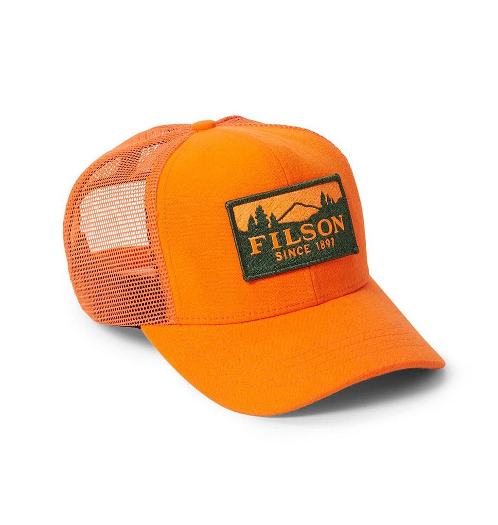 Filson - Logger Mesh Cap - Blaze Orange a411f6f3f1a