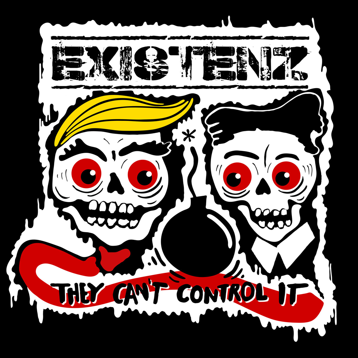 Existenz/The Nilz - They Cant Control It (Orange Vinyl) SIGNED - 12´