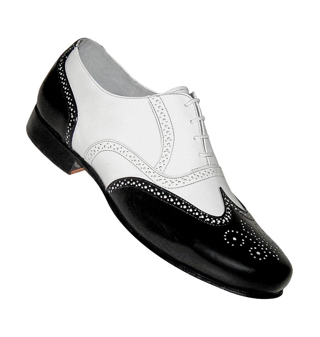 3bf0b63a6029 Aris Allen - Wingtip Spat Style - Black White´